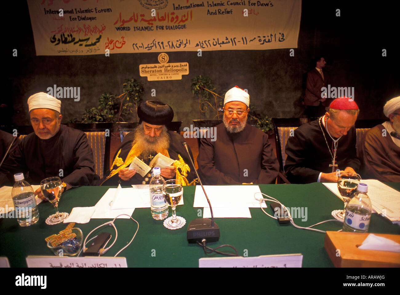 """Religiöse Führer der Welt in einer Besprechung """"Dialog zwischen den Religionen"""" Kairo Ägypten Stockbild"""