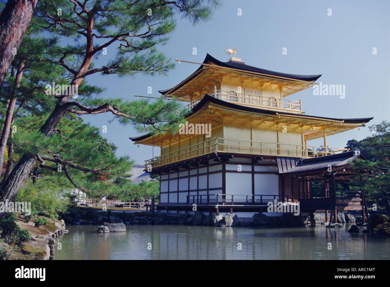 Der Goldene Tempel, Kyoto, Japan, Asien Stockbild