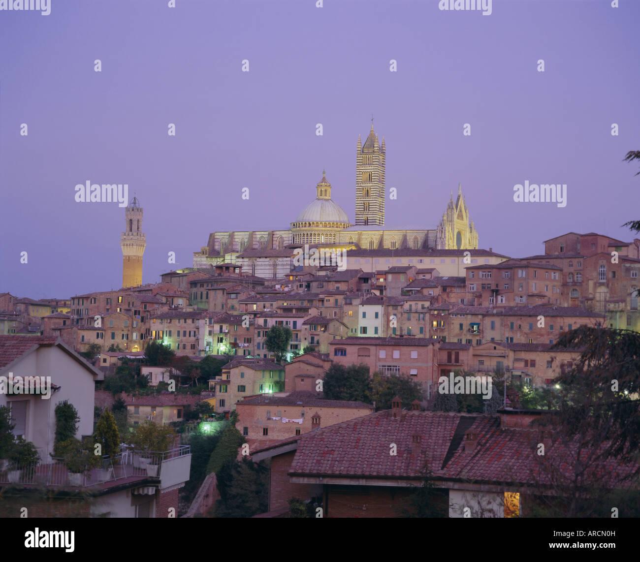 City Skyline, Siena, Toskana, Italien, Europa Stockbild