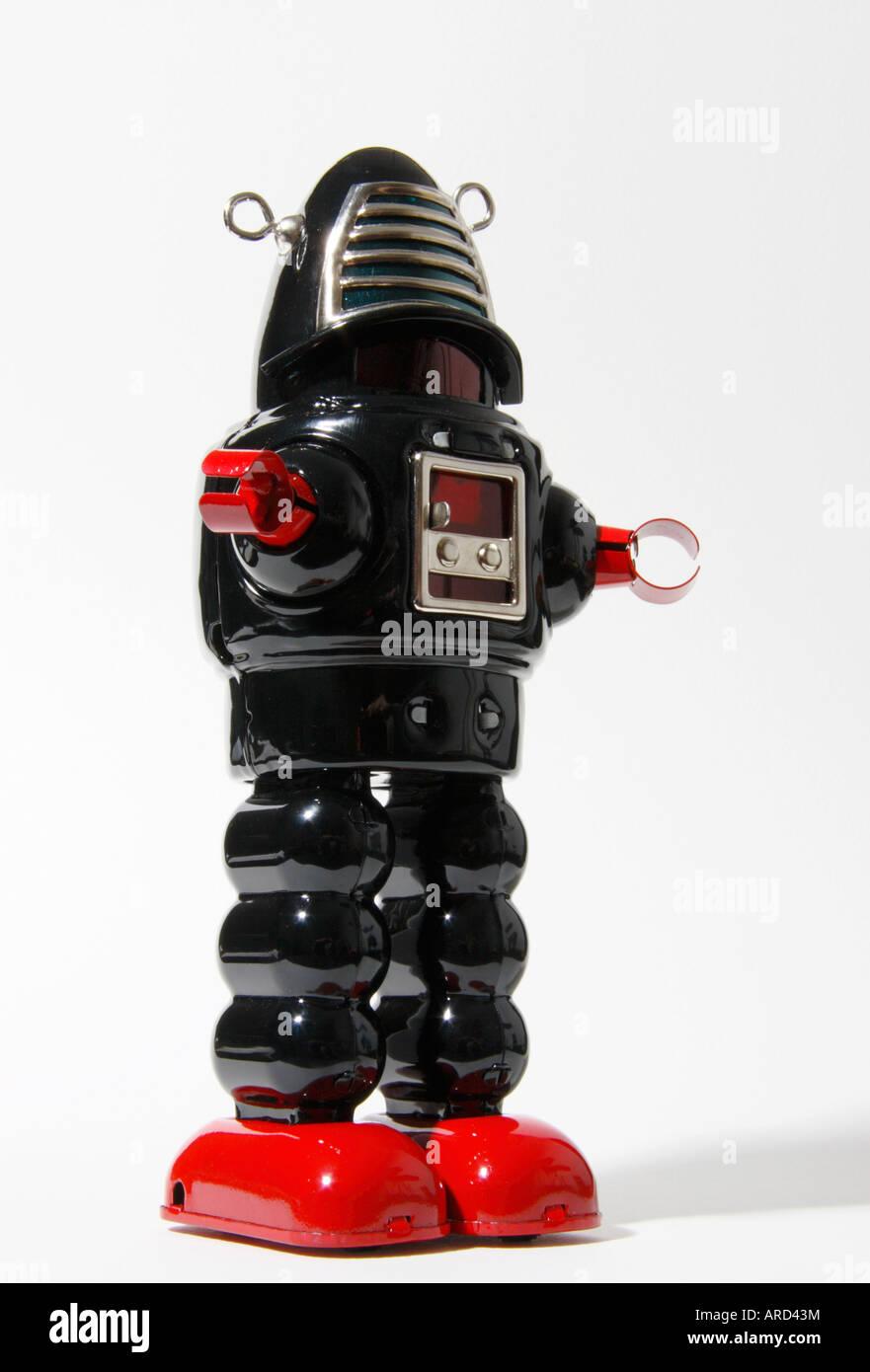 Ein Robbie Stil Retro-Roboter. Stockbild