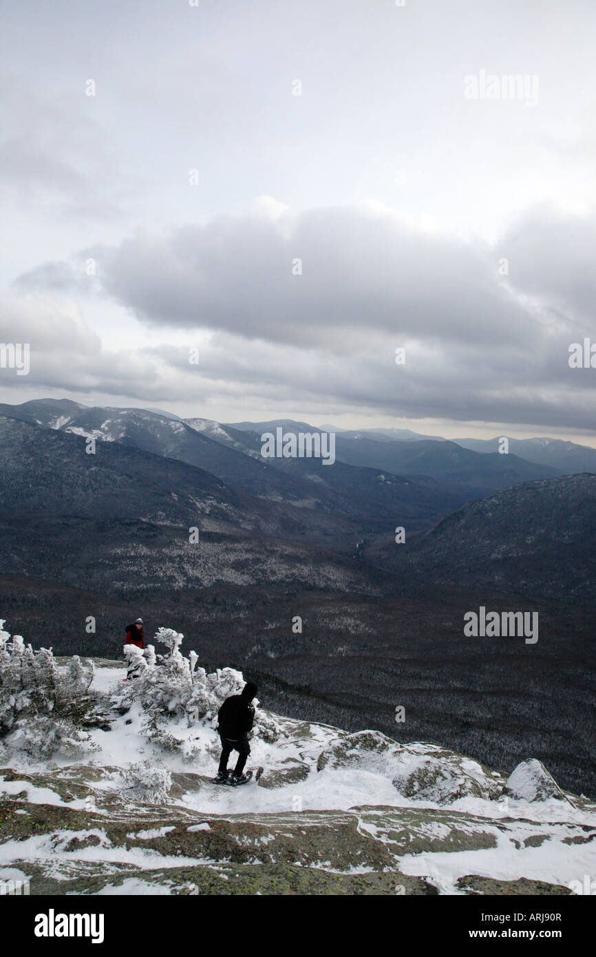 Appalachian Trail - der Gipfel des Mount Garfield in den Wintermonaten befindet sich in den White Mountains New Stockbild