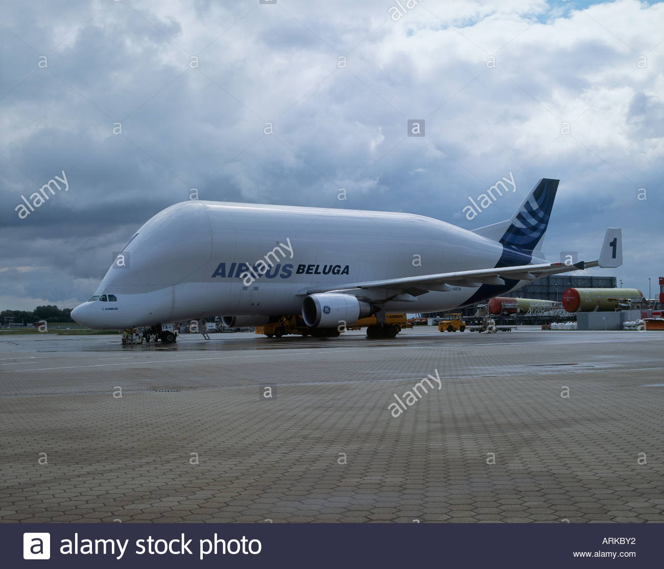 an airbus beluga stockfotos an airbus beluga bilder alamy. Black Bedroom Furniture Sets. Home Design Ideas