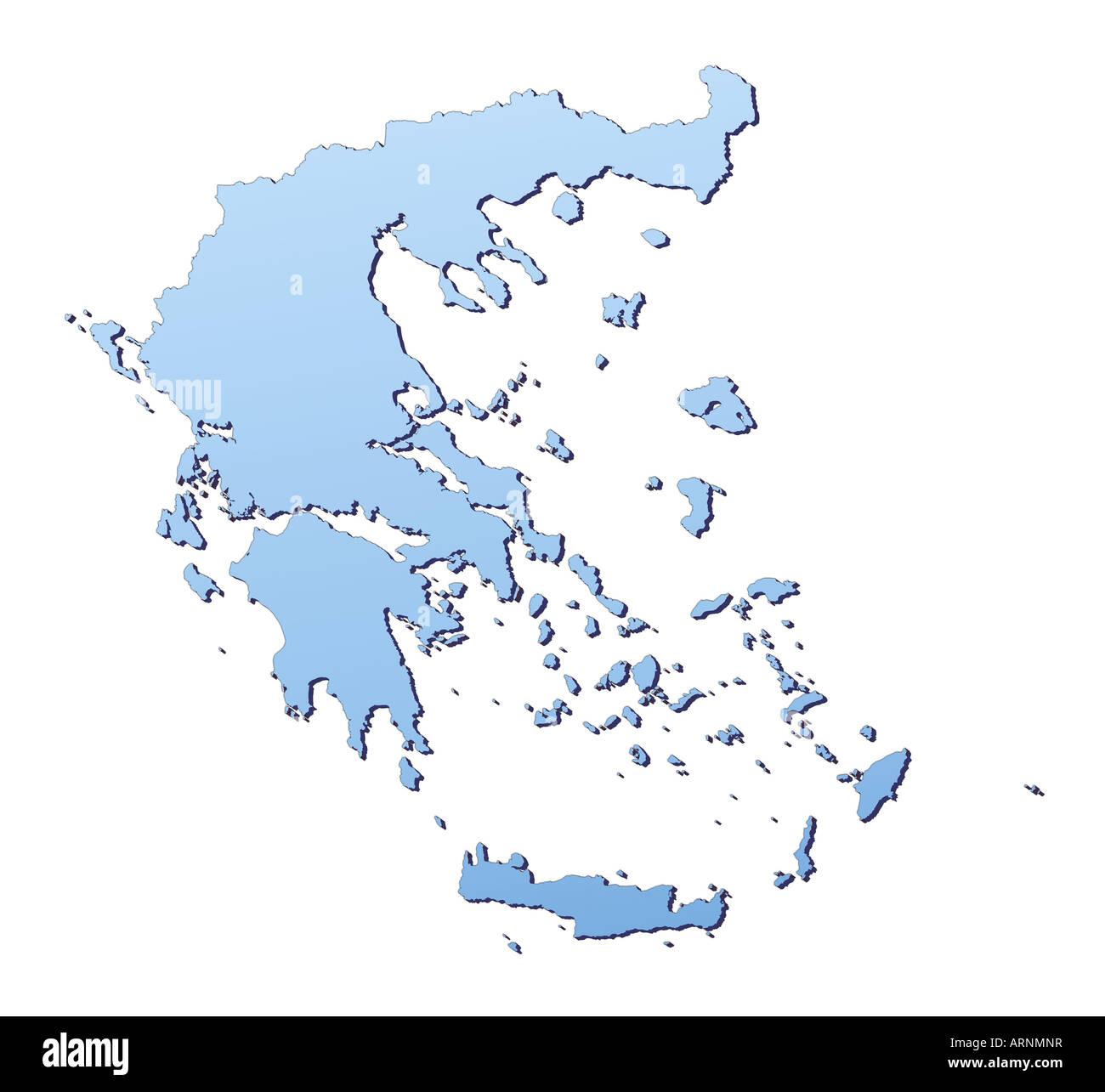Griechenland Karte Umriss