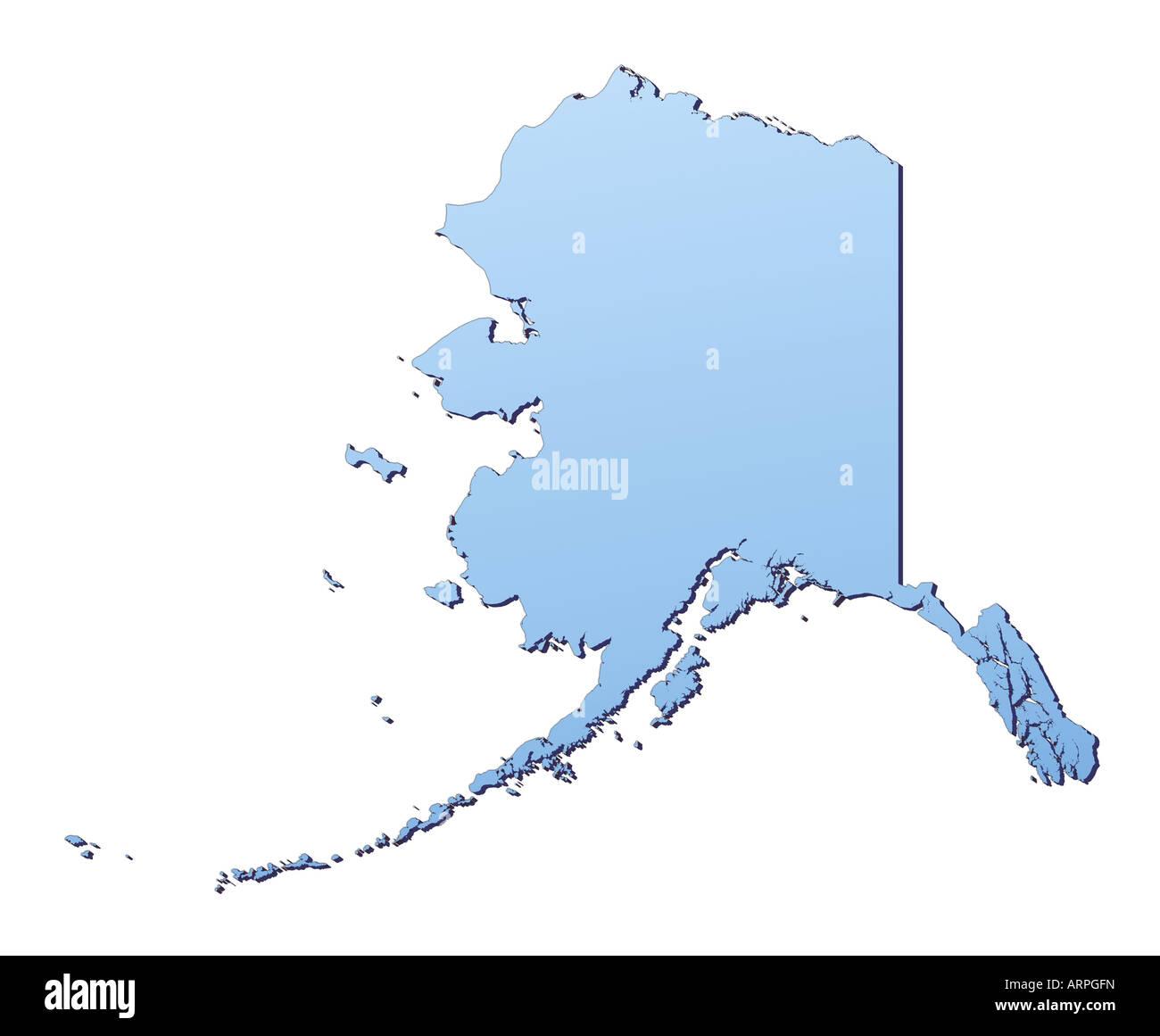 Alaska Karte Stockfotos Alaska Karte Bilder Alamy