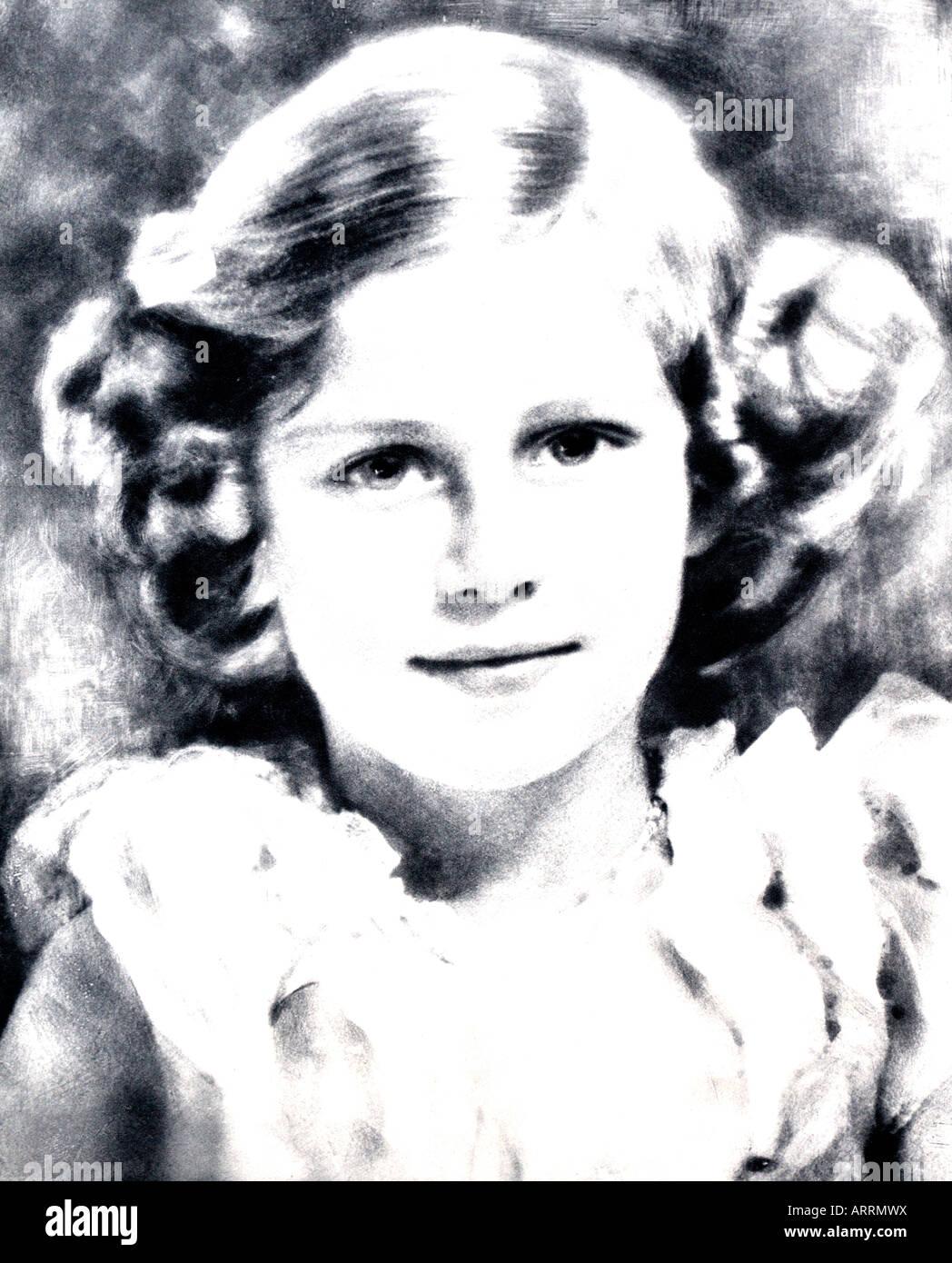 1930er Jahre Krönung Porträt der Prinzessin Margaret der illustrierten London News 15. Mai 1937 nur zu Stockbild