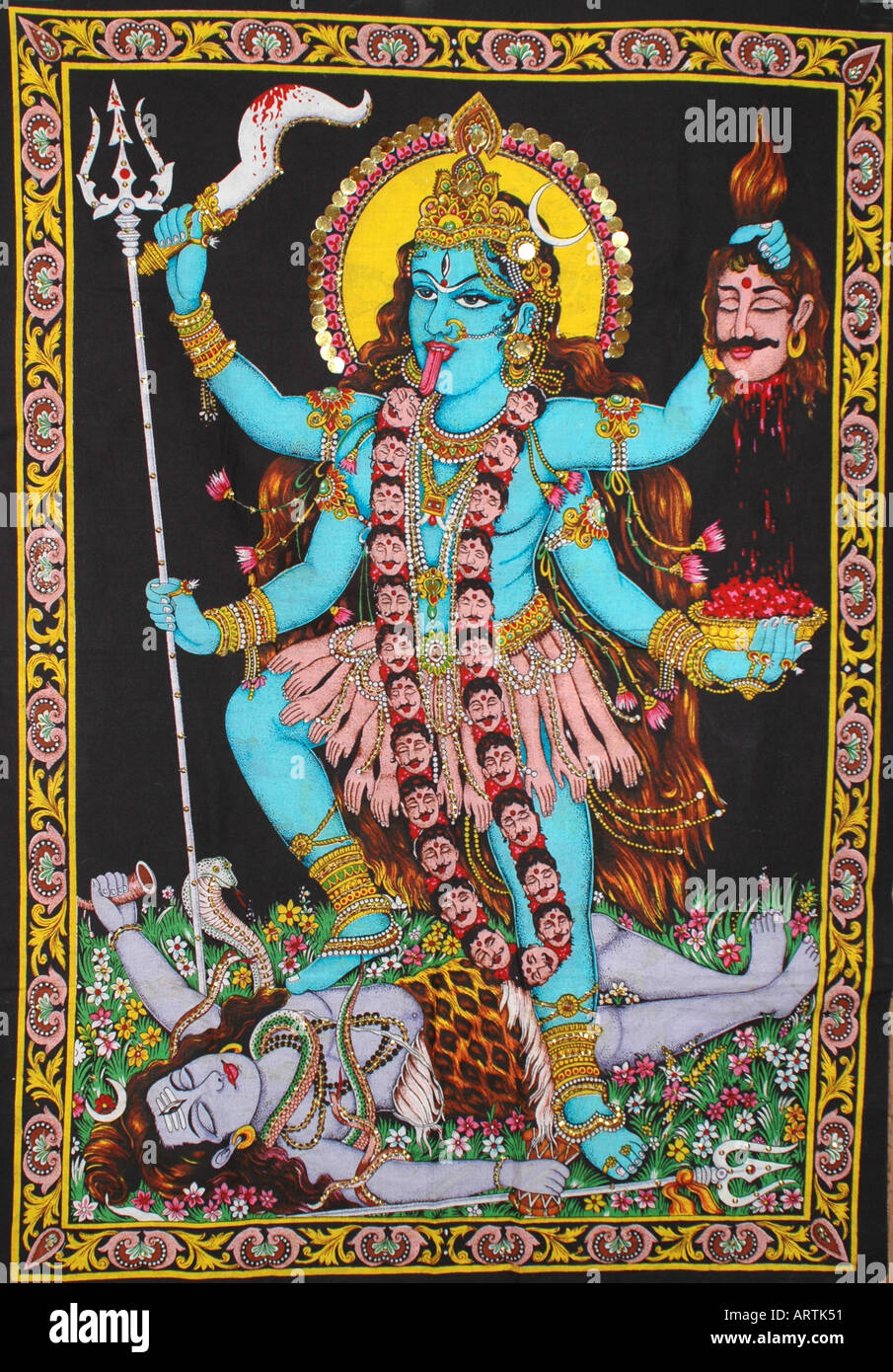 Indische Göttin Kali Stockfoto Bild 5264208 Alamy