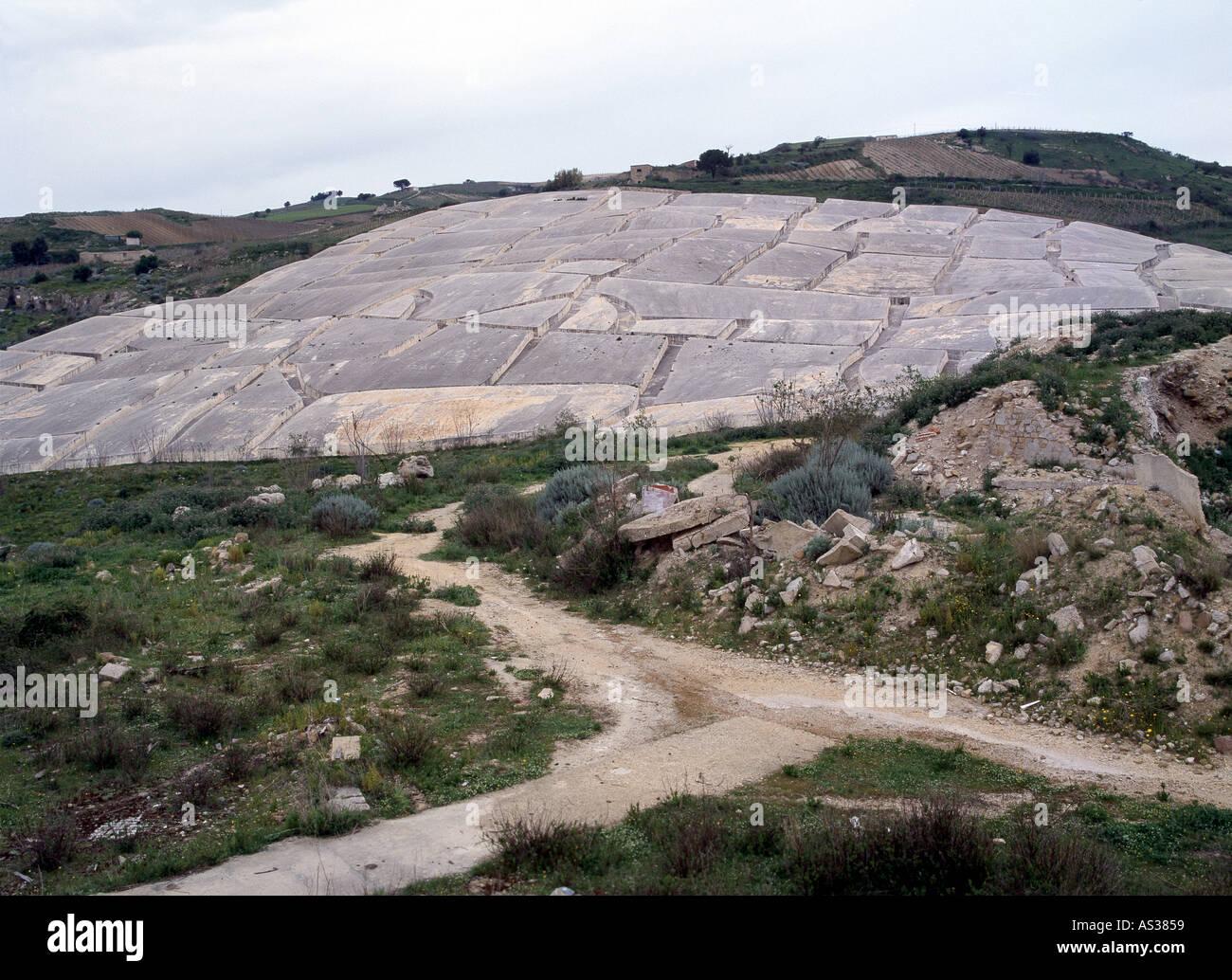 Gibellina, Gedenkstätte ein Das Erdbeben von 1968, Alberto Burri Stockbild