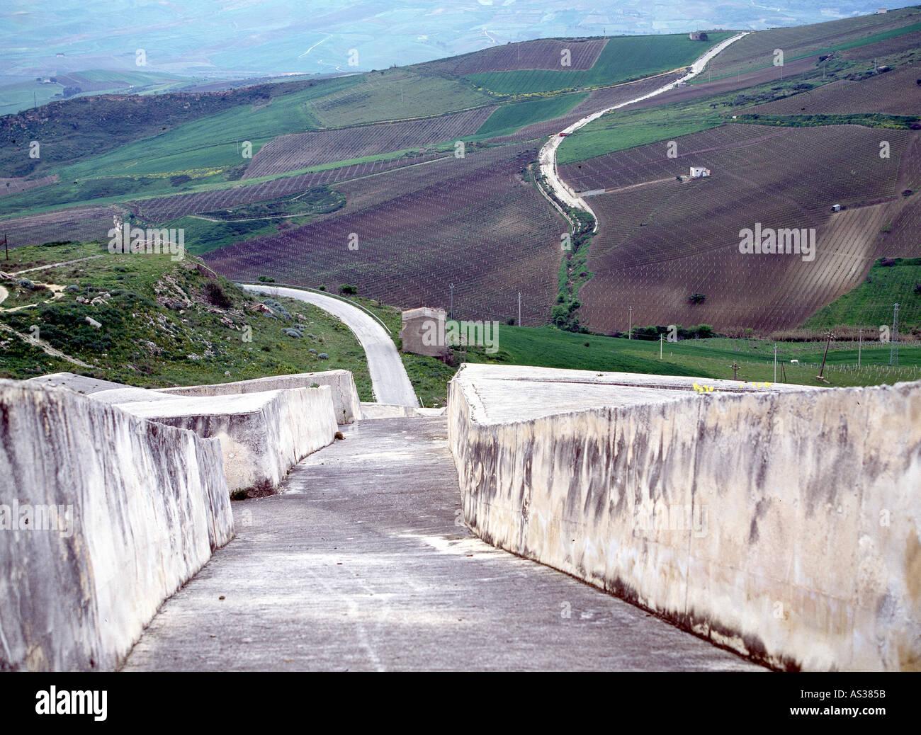 Gibellina, Gedenkstätte Für Das Erdbeben von 1968, Alberto Burri Stockbild