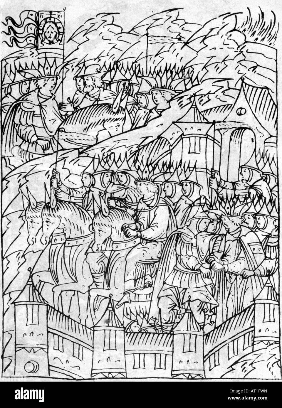 Geografie/Reisen, Russland, Kazan, Eroberung durch die Russans 1552, geben Sie der Russischen Armee, Zeichnung nach Stockbild
