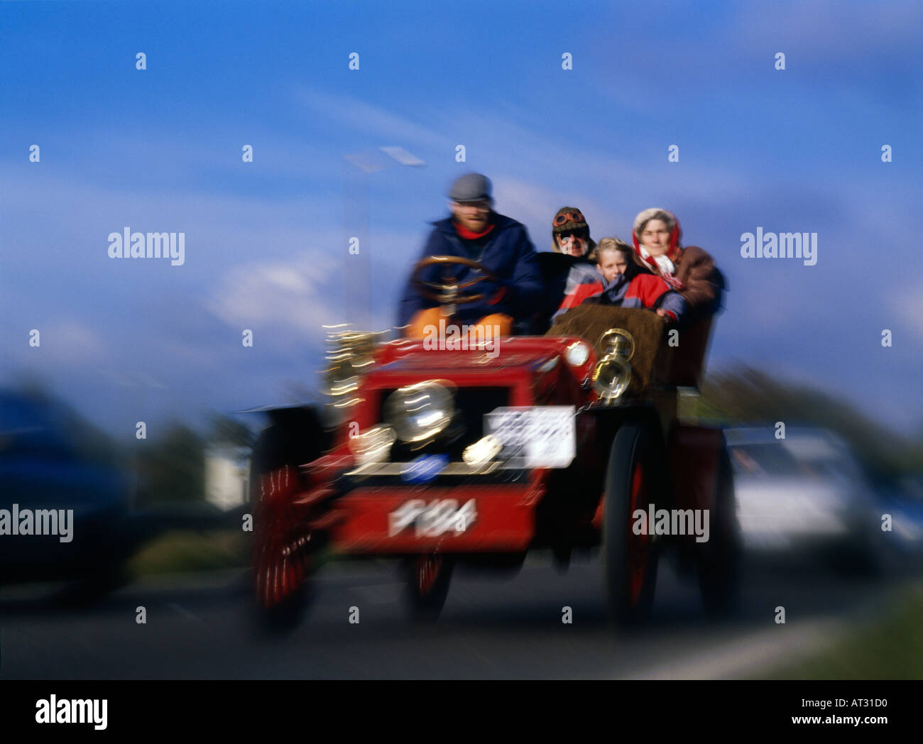 Oldtimer in London nach Brighton Rallye England Stockbild