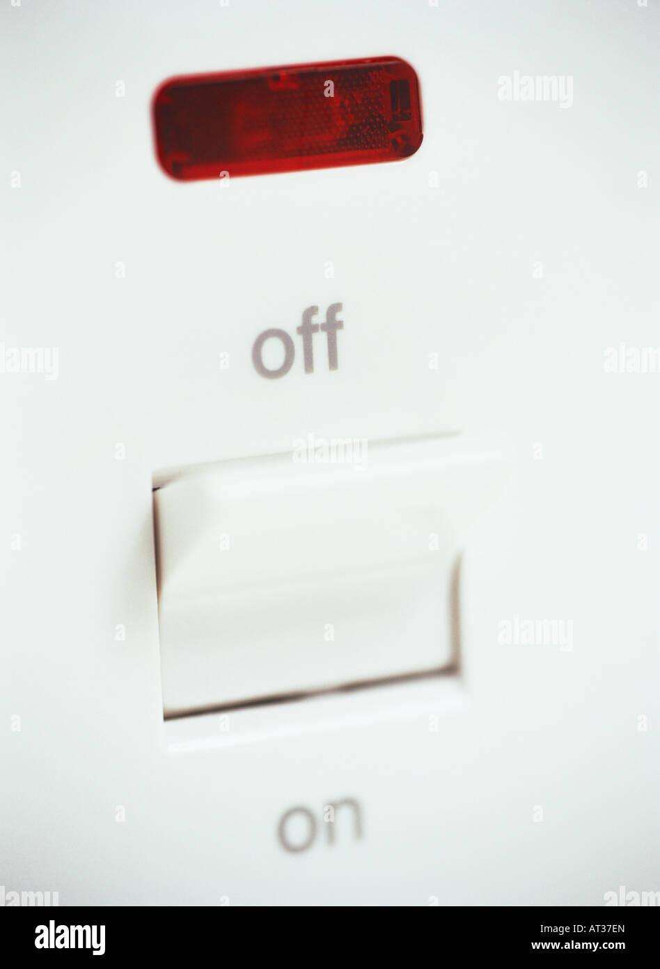 Ein elektrischer Schalter in aus-Stellung Stockfoto, Bild: 16187420 ...