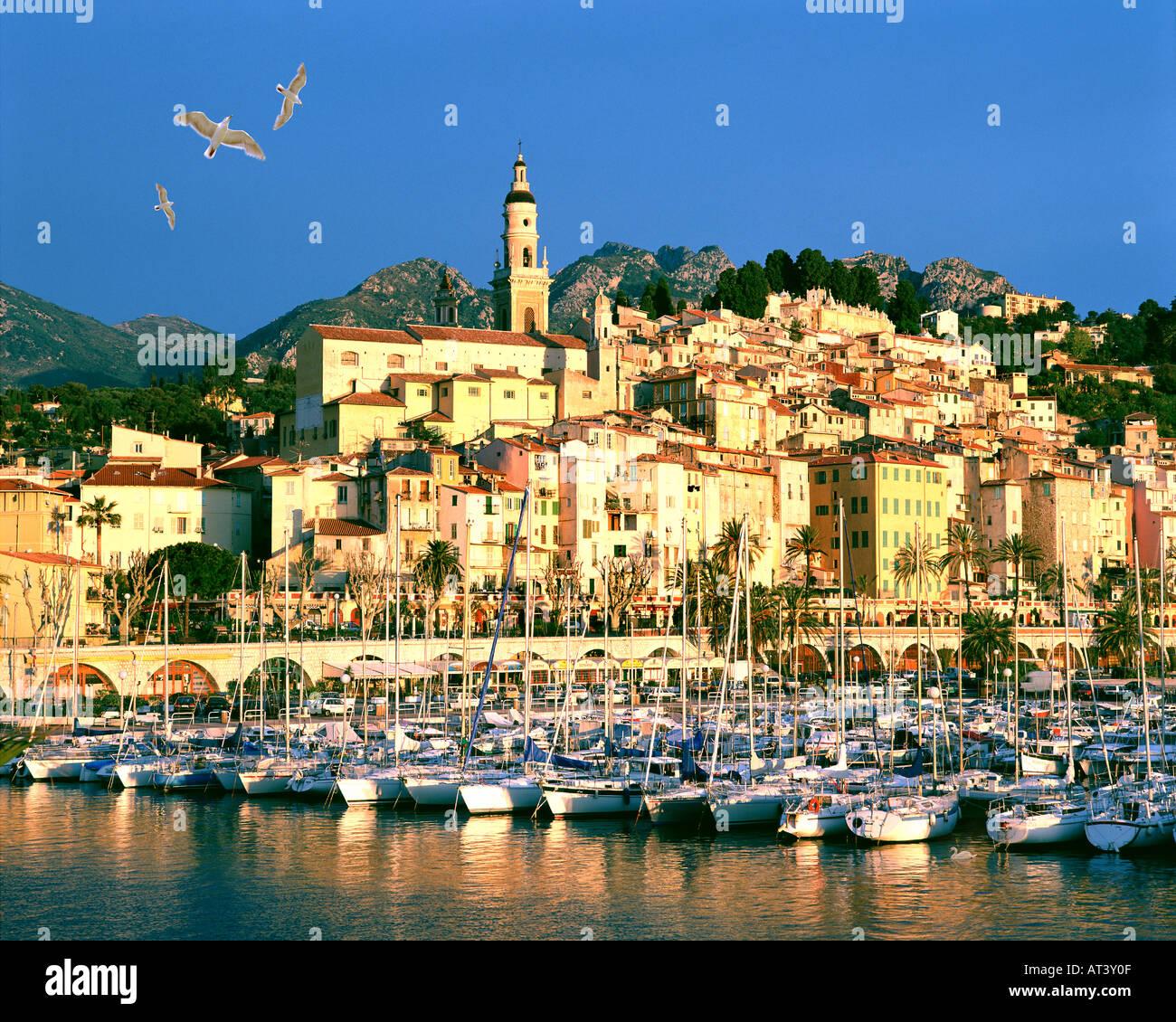 FR - COTE d ' Azur: Menton Stockfoto