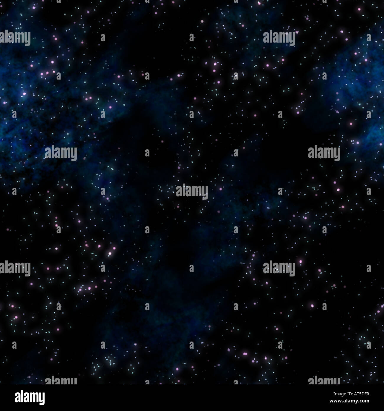 Bild der Sterne und Nebel Wolken im Deep space Stockbild