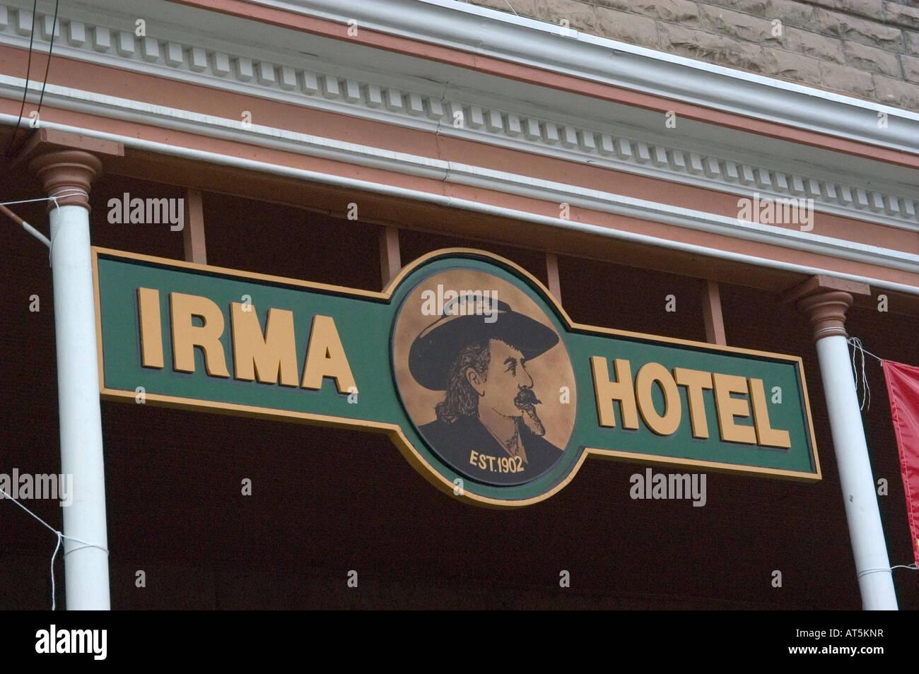 WY Wyoming Cody Buffalo Bill s Hotel der westlichen Geschichte von Irma Old West Wild West Stockbild
