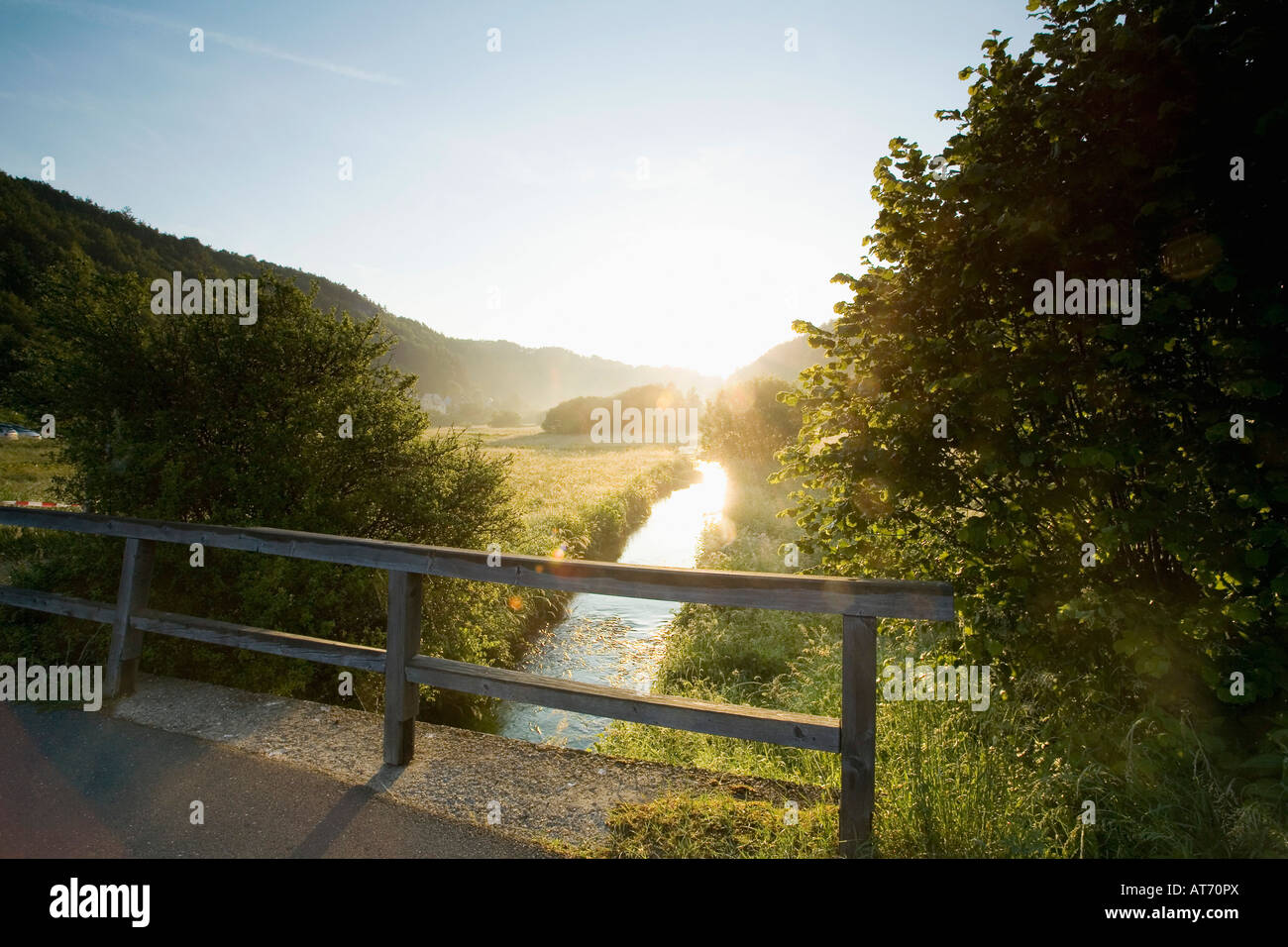 Deutschland, Bayern, Trubachtal Stockbild
