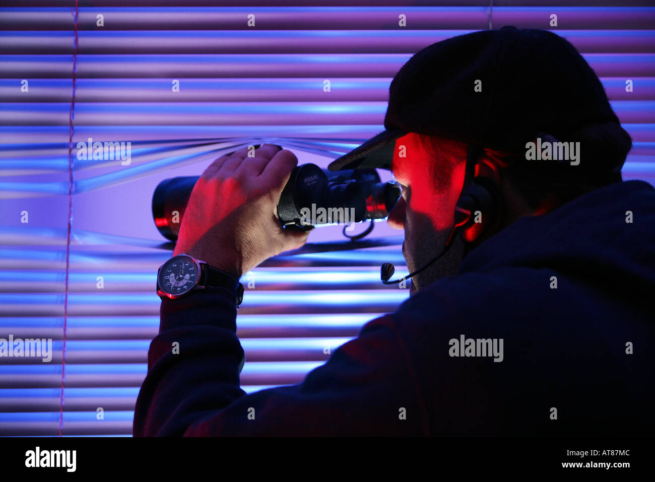 DEU, Deutschland: Symbolische Foto, Beobachtung, Geheimagent, Spion, Privatdetektiv Stockbild