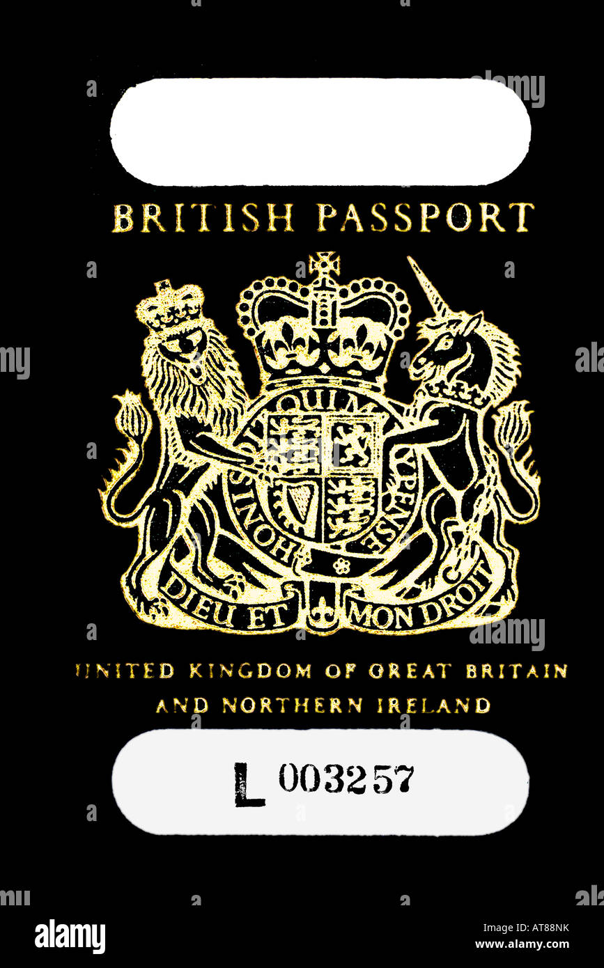 Britischer Pass vor 1995 für redaktionelle Verwendung nur redaktionelle Nutzung nur Stockbild