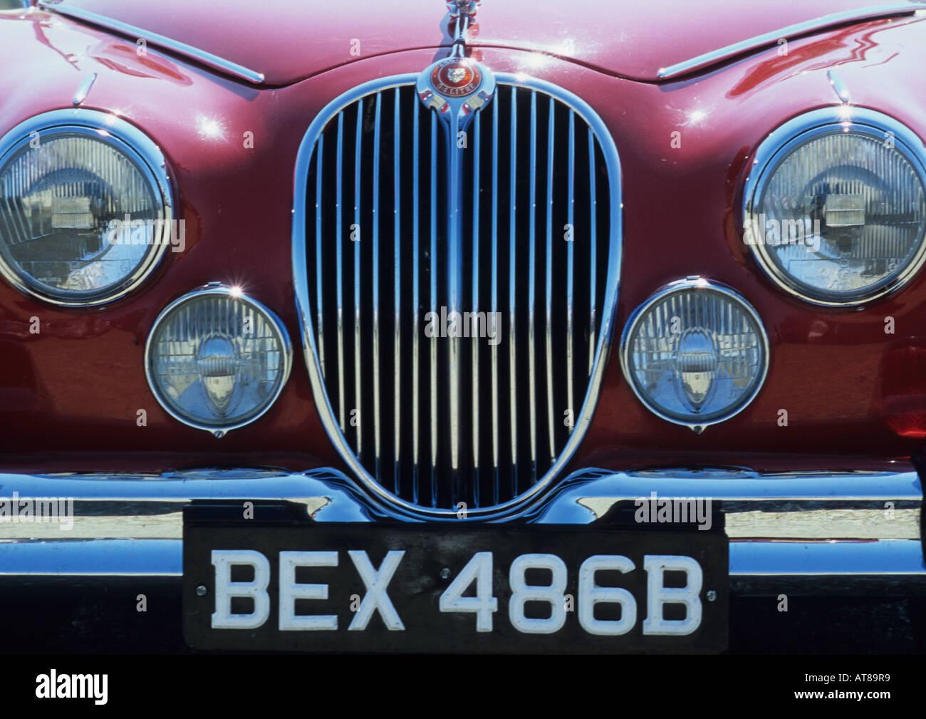 Oldtimer Jaguar 3,4 Liter Stockbild