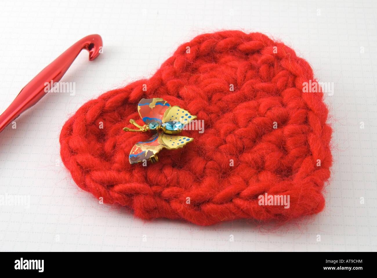 Enchanting Rotes Herz Muster Häkeln Pattern - Decke Stricken Muster ...