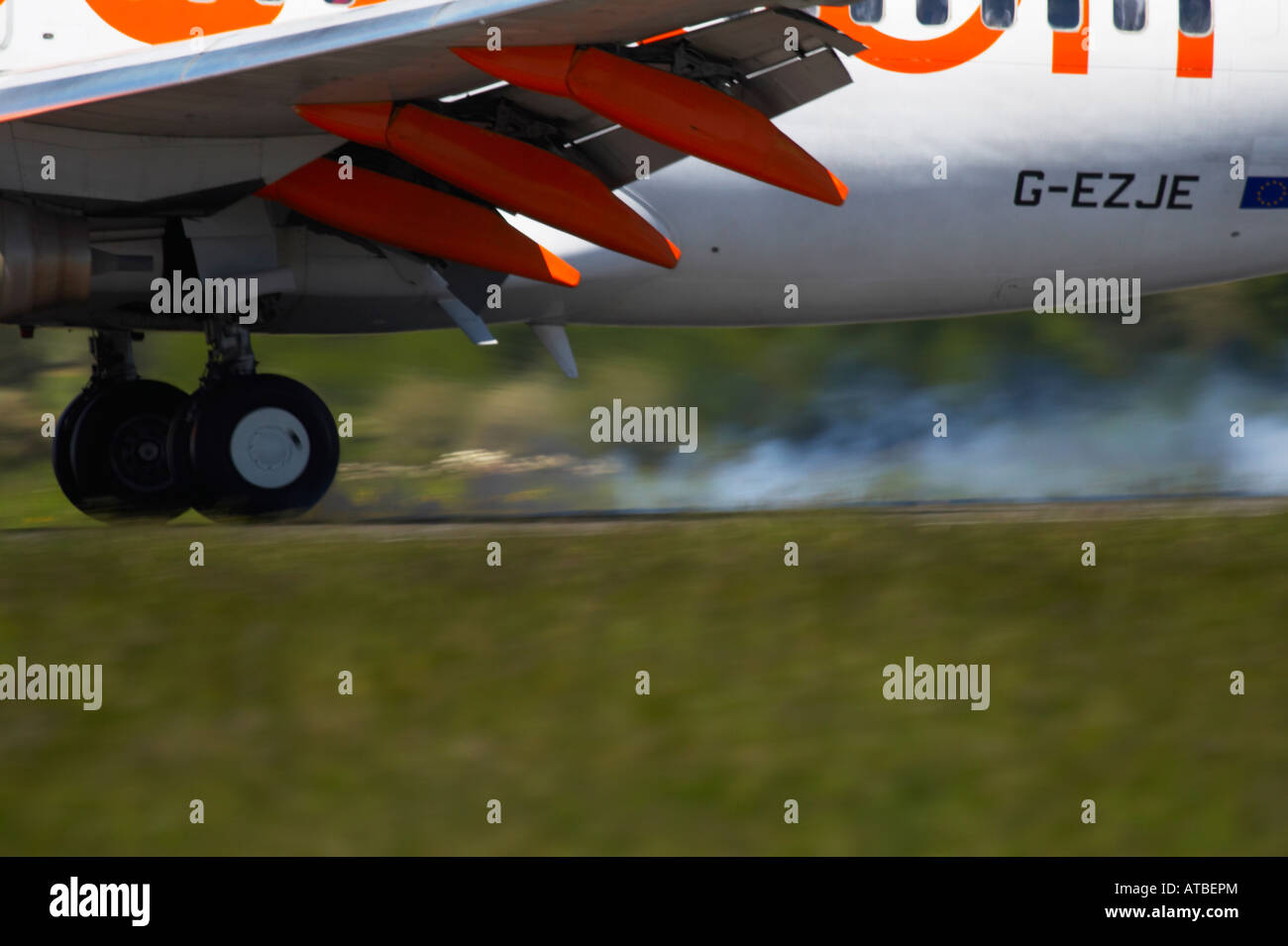 Easy Jet Landung Stockbild