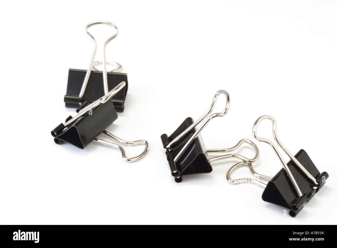 Bindemittel-Clips, close-up Stockbild