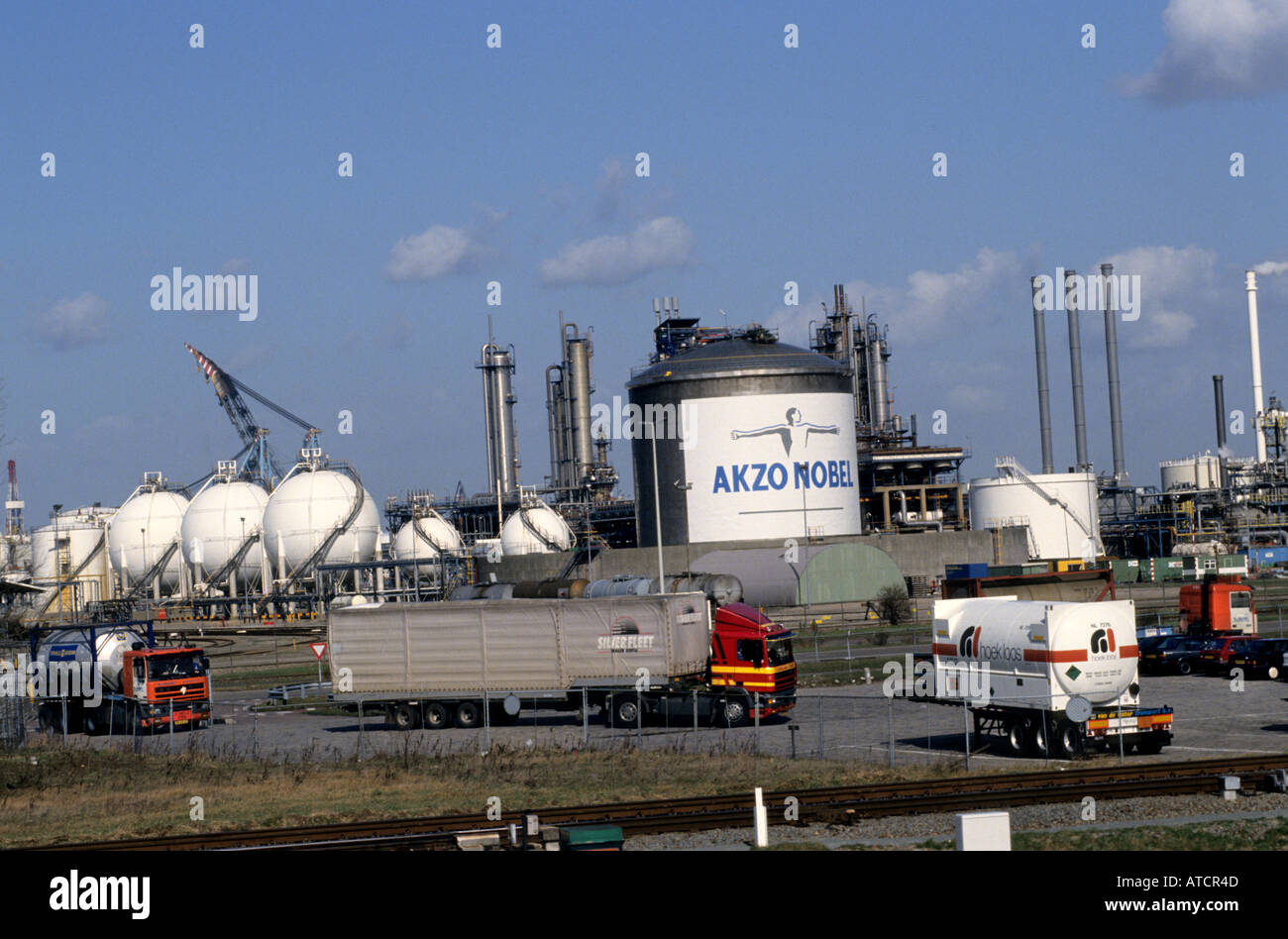 Akzo Nobel Rotterdam Niederlande Hafen Hafen Stockbild