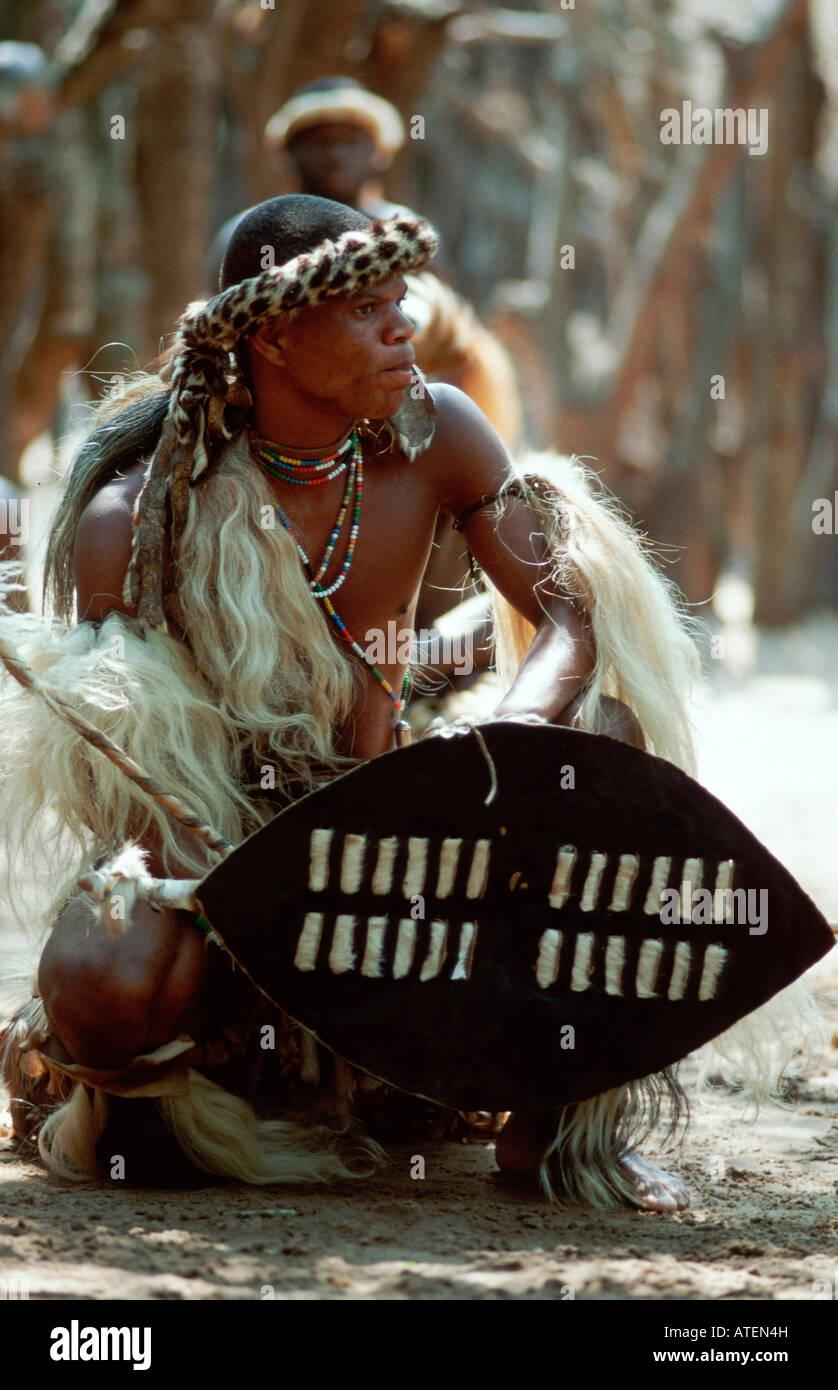 Zulu Krieger / Zulukrieger Stockbild