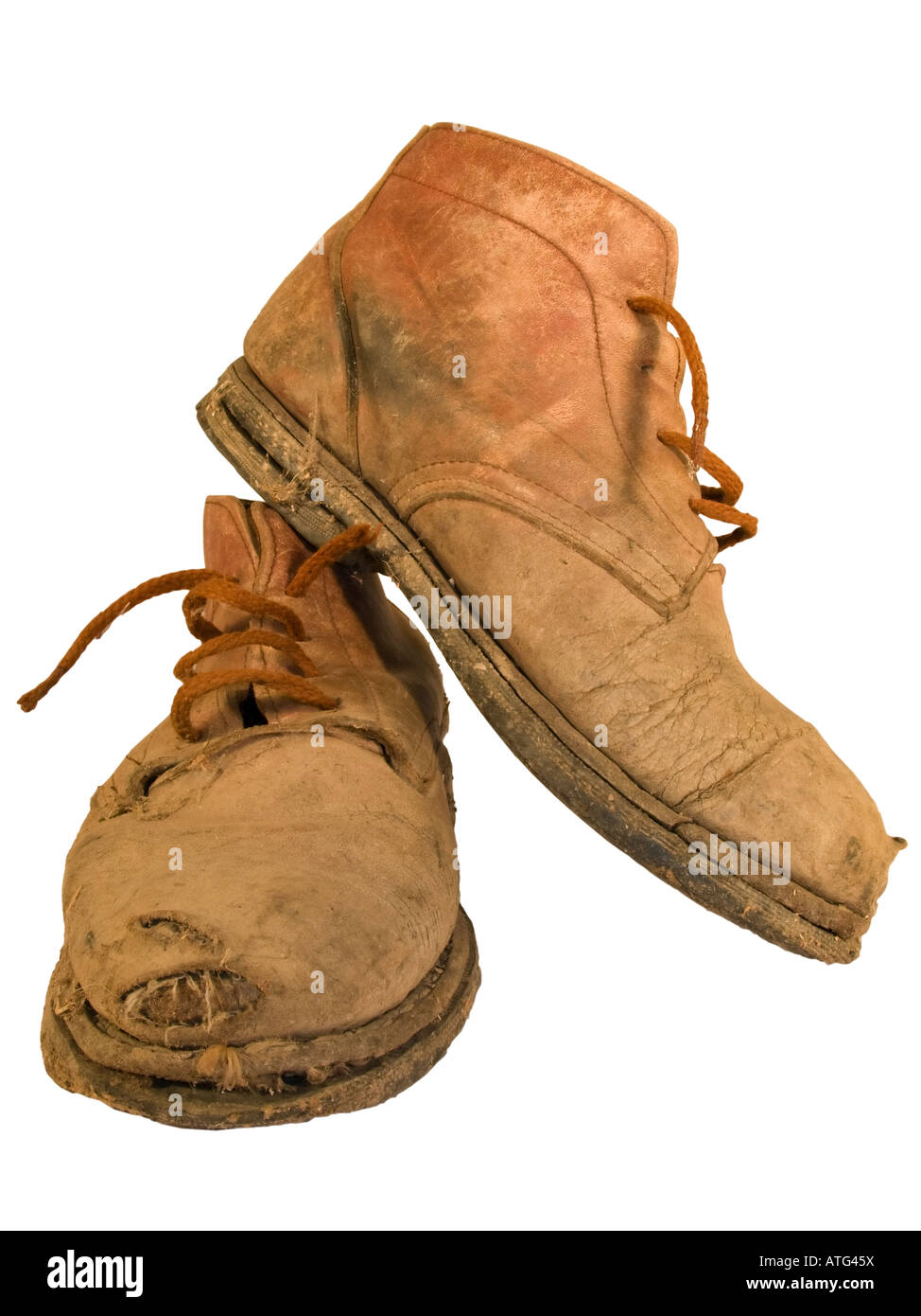 d8dea381be77f Pair Old Boots Well Worn Stockfotos & Pair Old Boots Well Worn ...