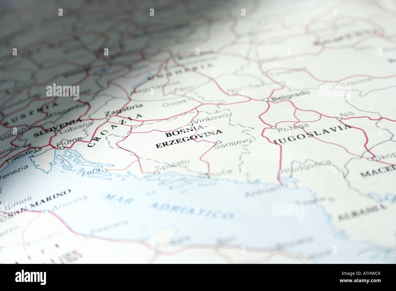 Ex Jugoslawien Karte.Kosovo Maps Stockfotos Kosovo Maps Bilder Alamy