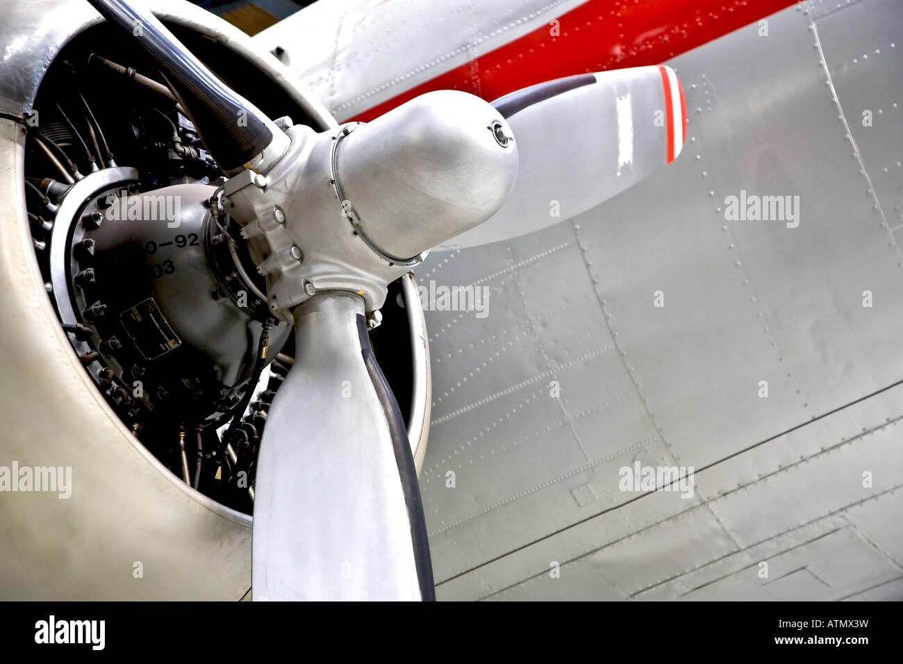 Alten Propeller angetrieben Flugzeuge Stockbild