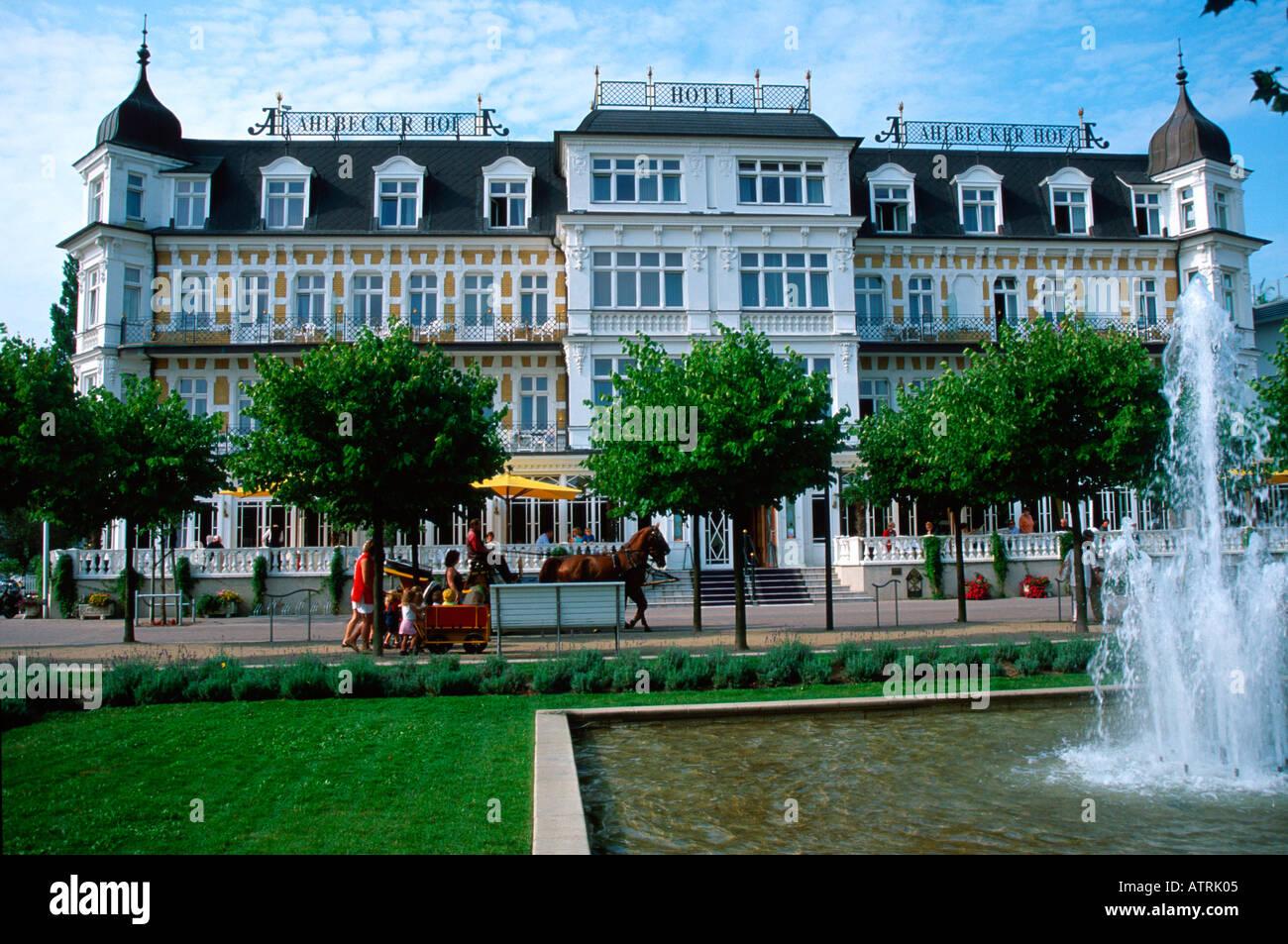 Romantik Seehotel Ahlbecker Hof / Ahlbeck Stockbild