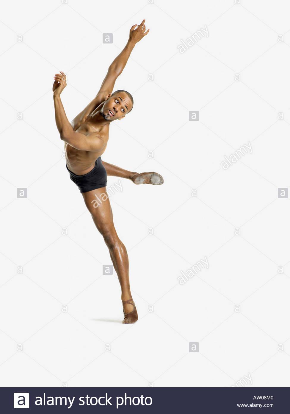Tänzer, die Durchführung Stockfoto