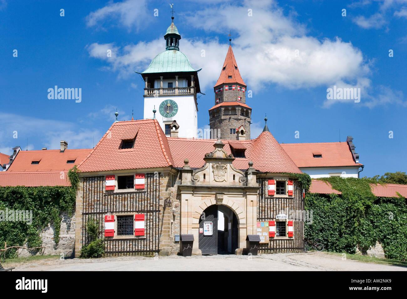 Bouzov Romantik 1895 Tschechien Stockbild