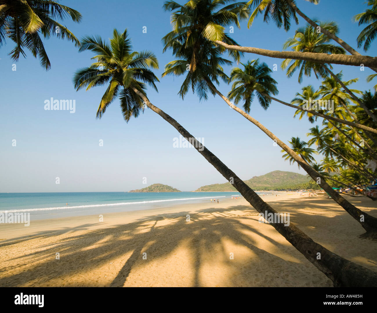 Palolem Beach in Goa in Süd-Indien Stockbild