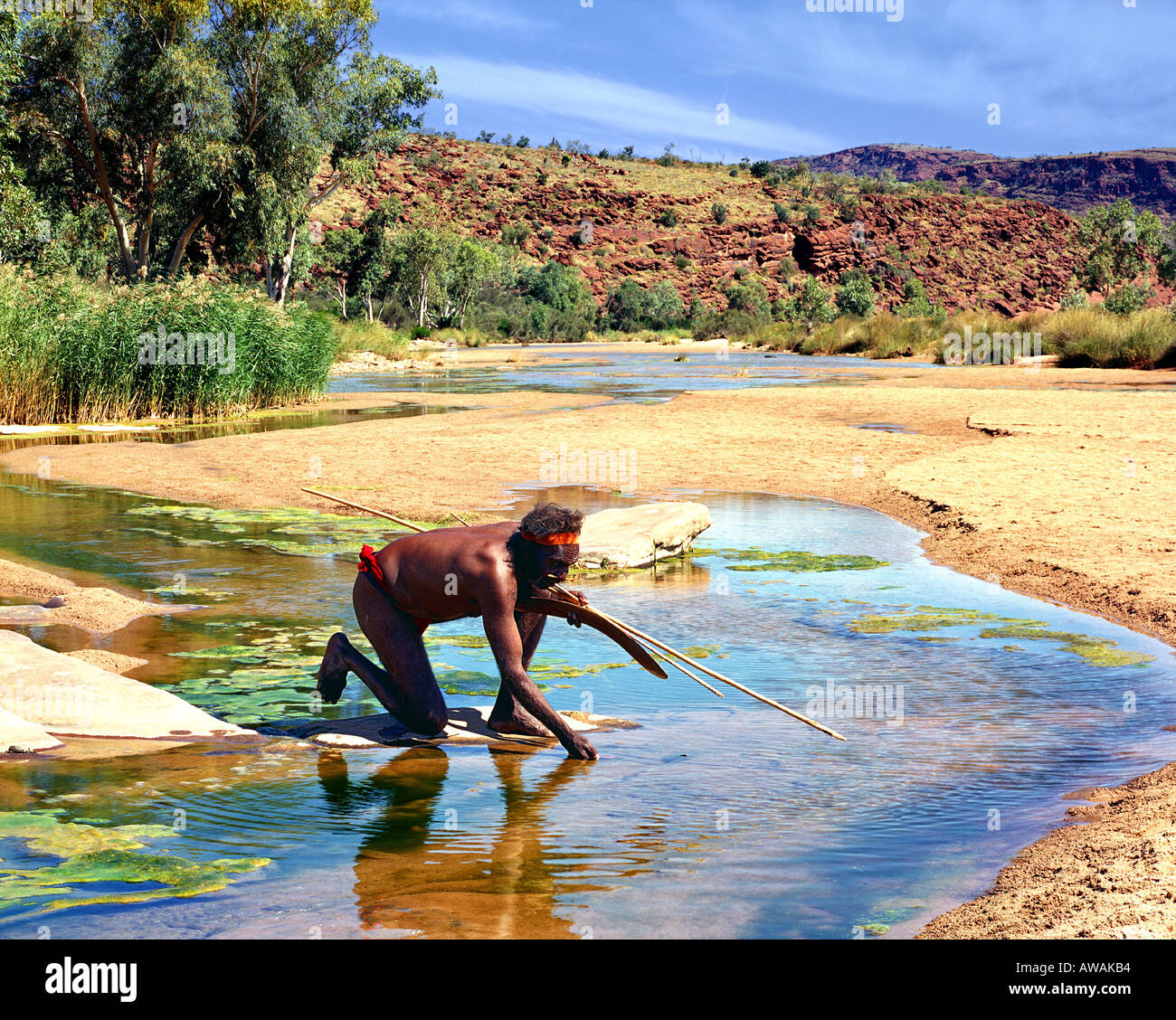 Au - Northern Territory: native Ureinwohner Stockbild