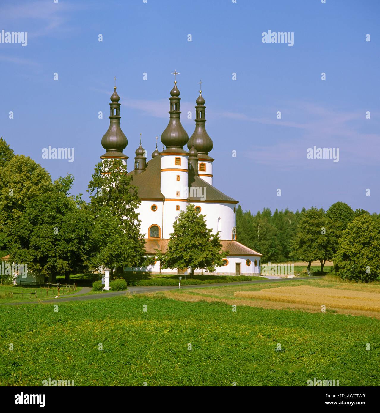 Kappel Stadt Waldsassen Oberpfalz Bayern Deutschland Wallfahrtskirche Heilige Geist gebaut von Georg Dientzenhofer Stockbild
