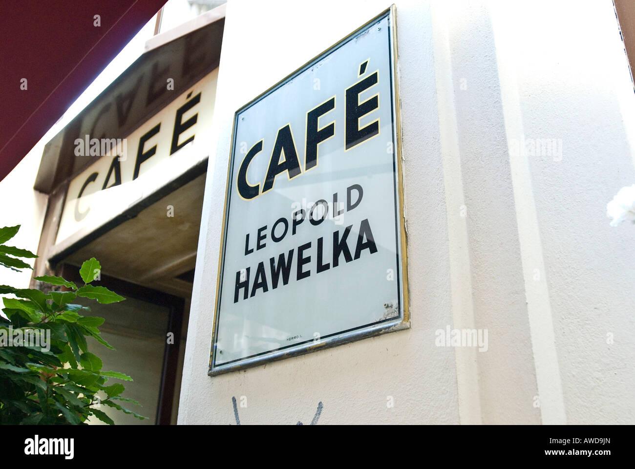 Cafe Hawelka, Wien, Österreich Stockbild