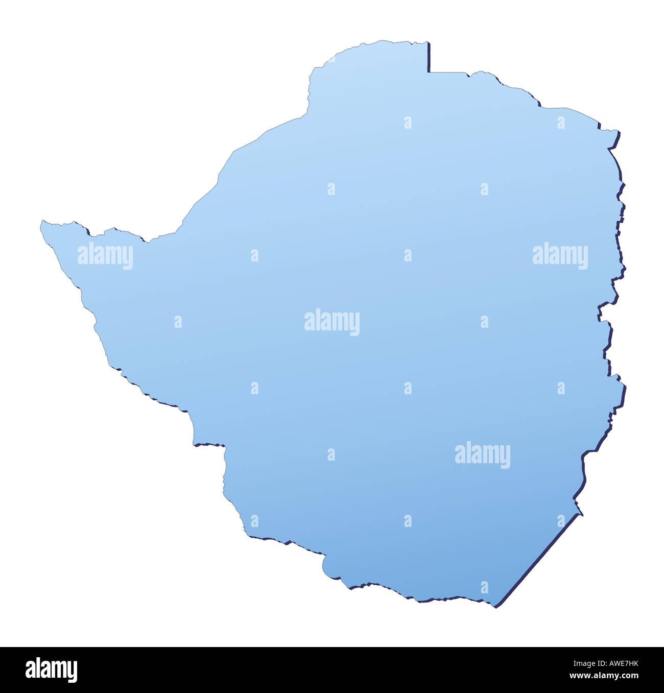 Zimbabwe Map Stockfotos & Zimbabwe Map Bilder - Alamy on