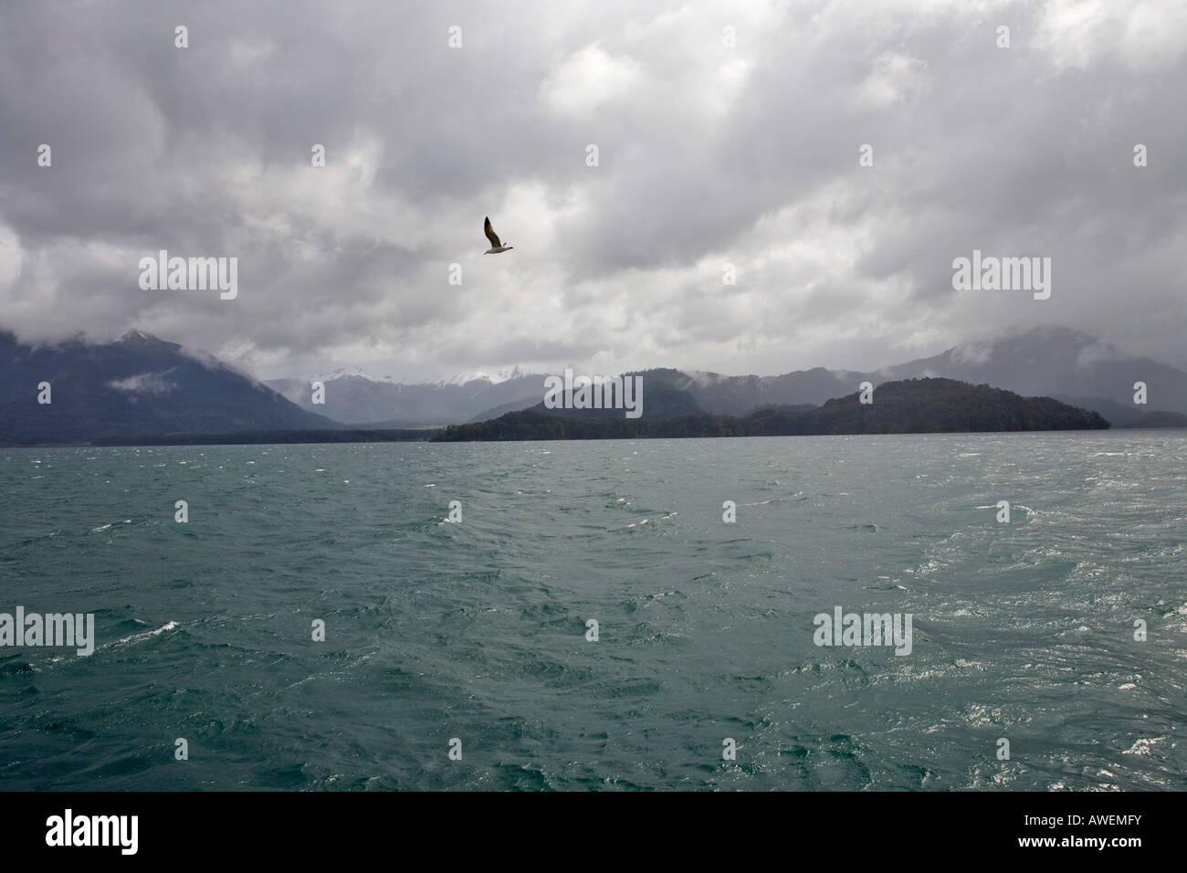Lago Todos Los Santos, Vicente Pérez Rosales Nationalpark, Region de los Lagos, Chile, Südamerika Stockbild