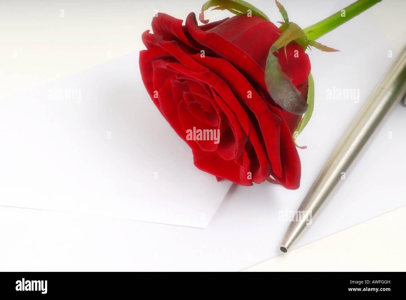 Liebesbrief Stockbild