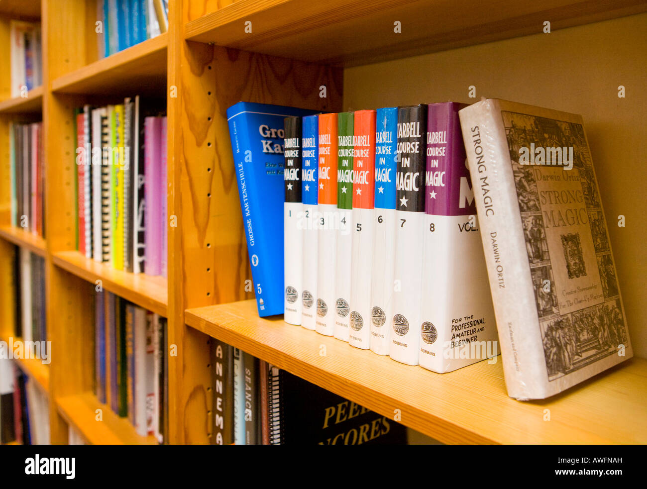 Okkultismus-thematische Bibliothek Stockbild