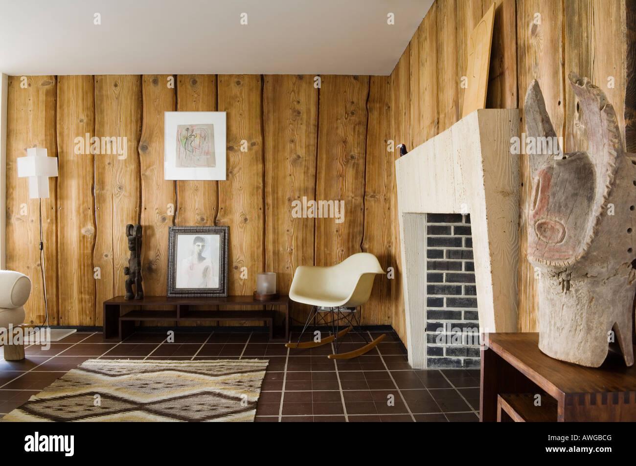 moderne penthouse wohnung, wohnzimmer mit eames chair in 1930er jahren moderne penthouse, Design ideen