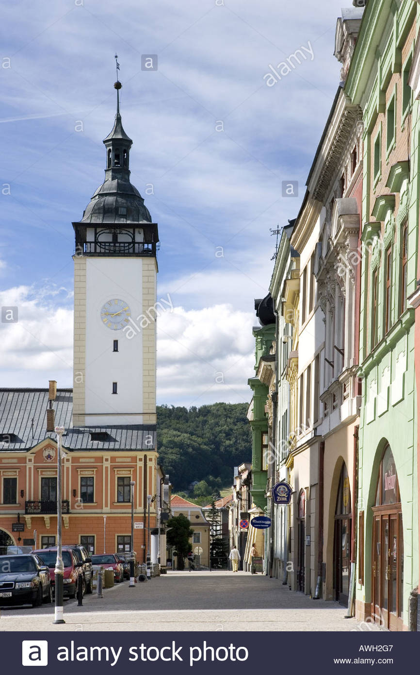 Altes Rathaus 1528 Masaryk Platz Hranice Na Morave Tschechien Stockbild