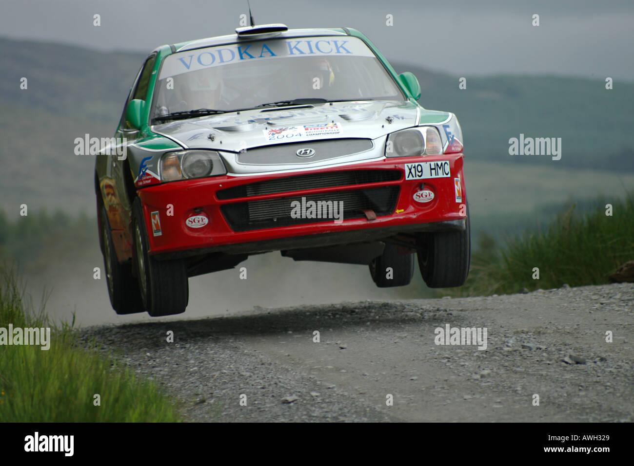 Britischen Rallye Meisterschaft Anwärter in der schottischen Rallye Stockbild