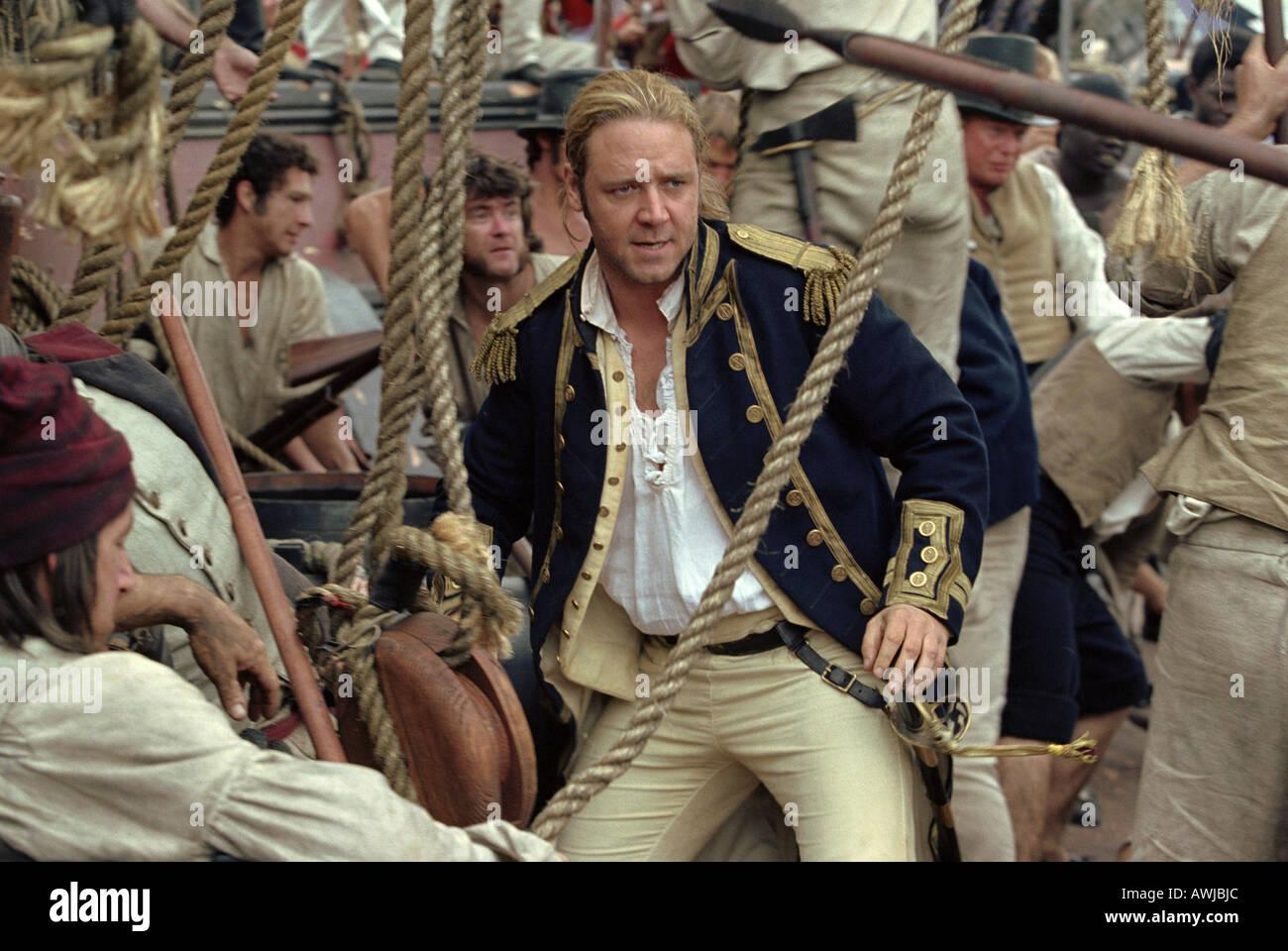 MASTER und COMMANDER fernen Teil der Welt 2003 Fox/Universal-Film mit Russell Crowe Stockbild