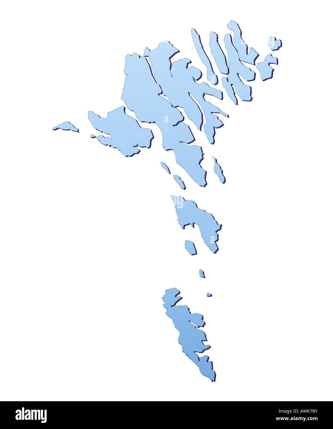 Färöer Inseln Karte.Färöer Inseln Karte Stockfoto Bild 16601342 Alamy