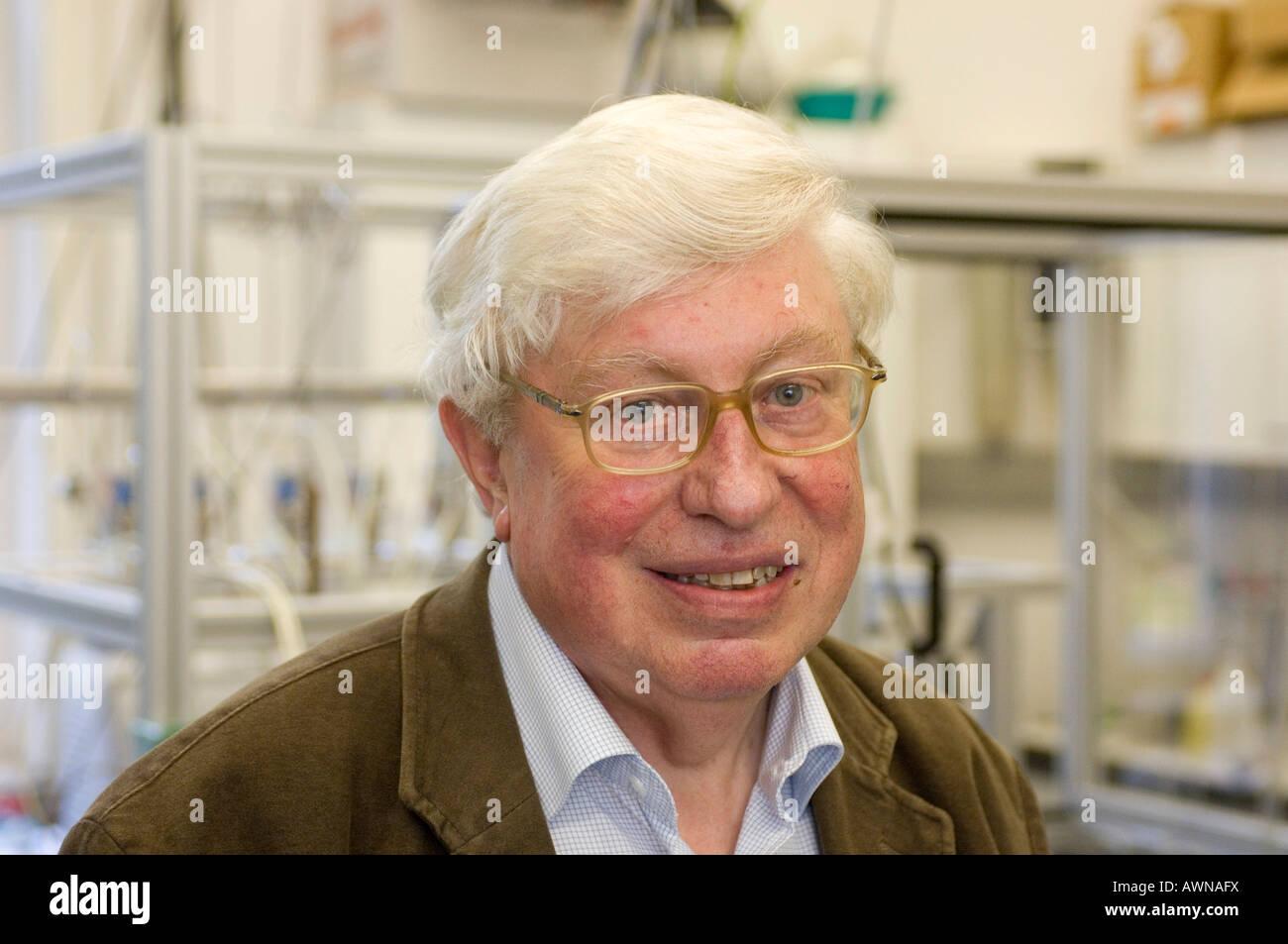 Prof. Gerhard Ertl, Nobelpreisträger für Chemie, 2007 Stockbild