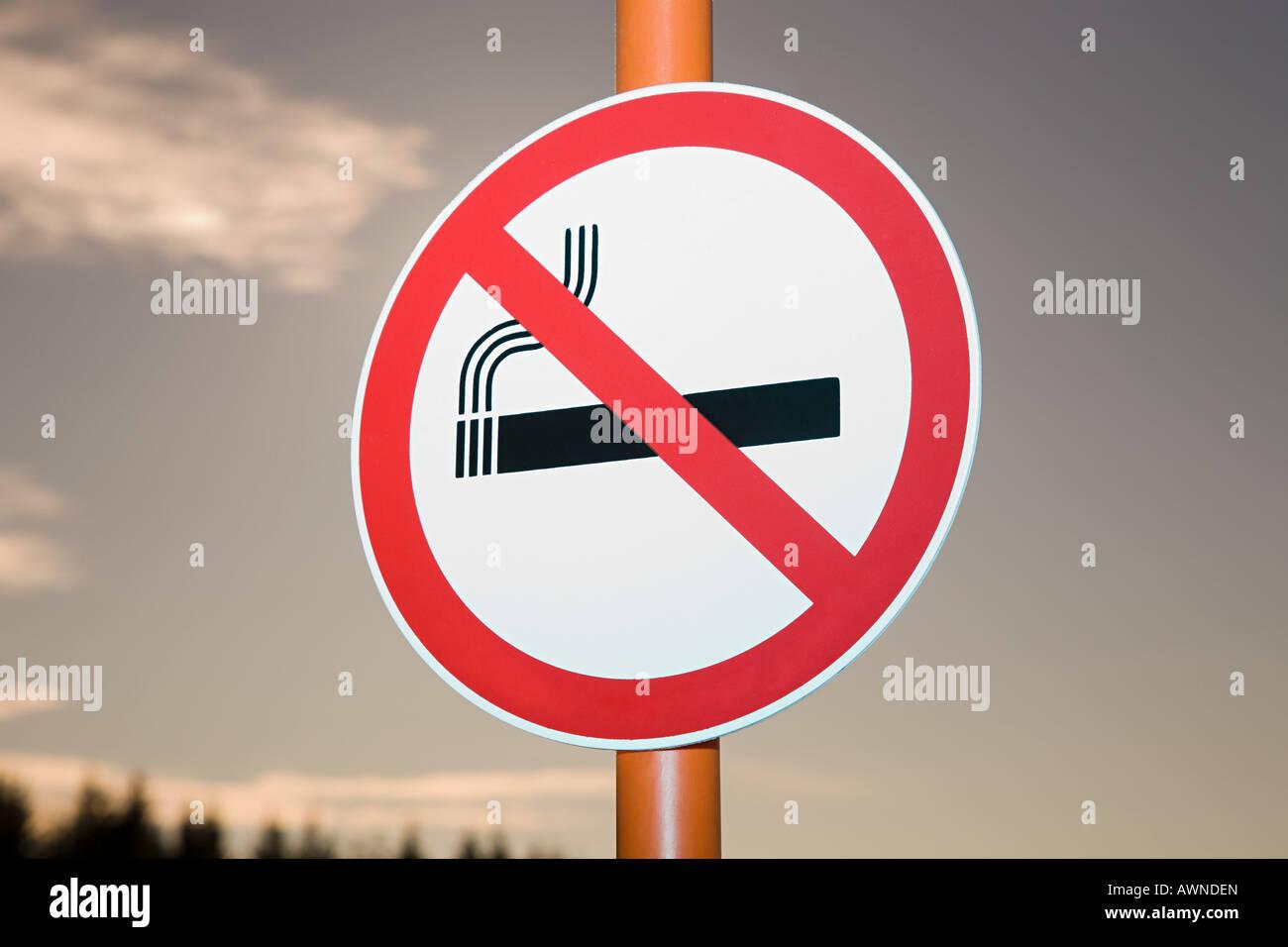 Kein Rauchen Zeichen Stockbild