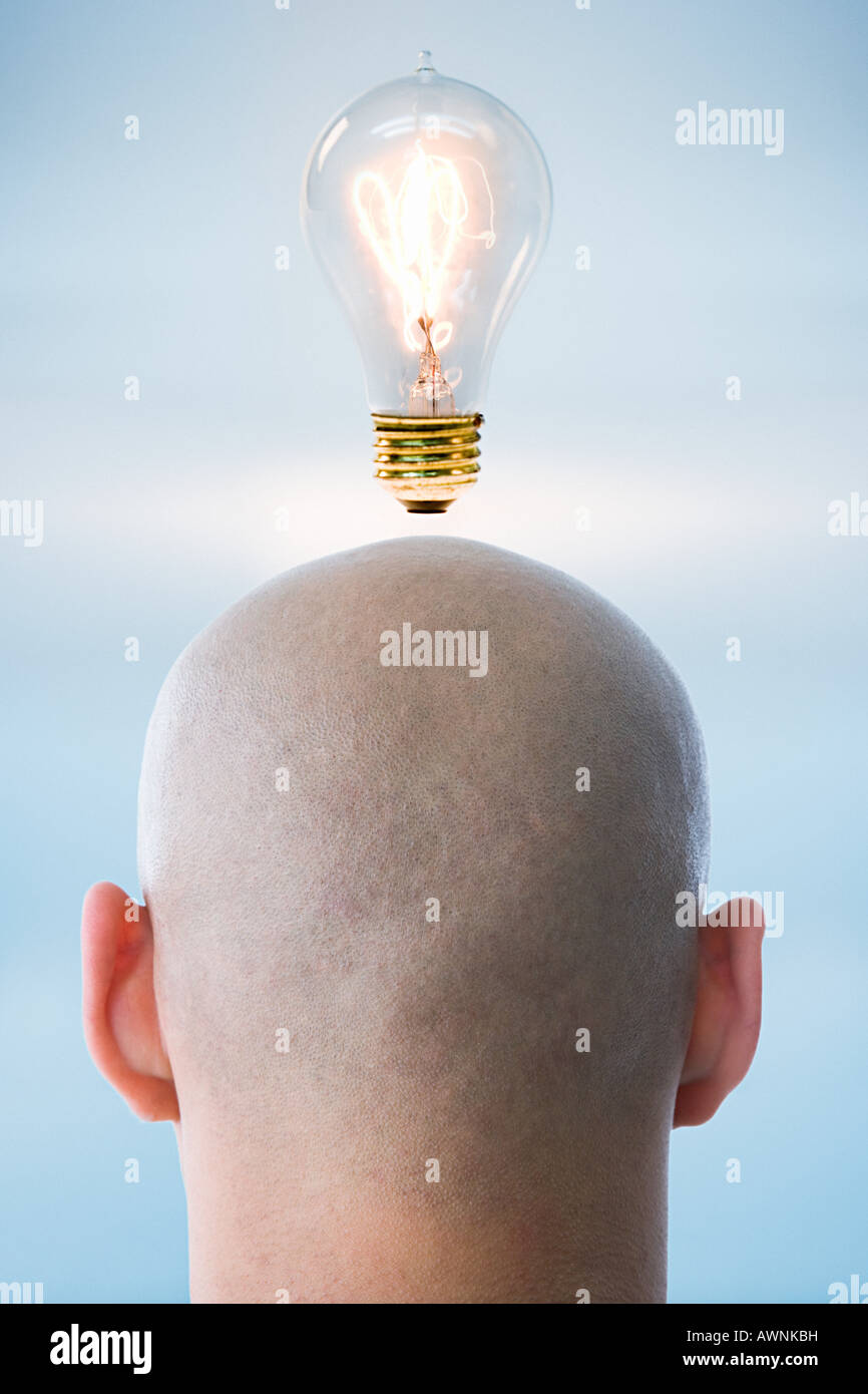 Eine Person, die eine Idee Stockbild