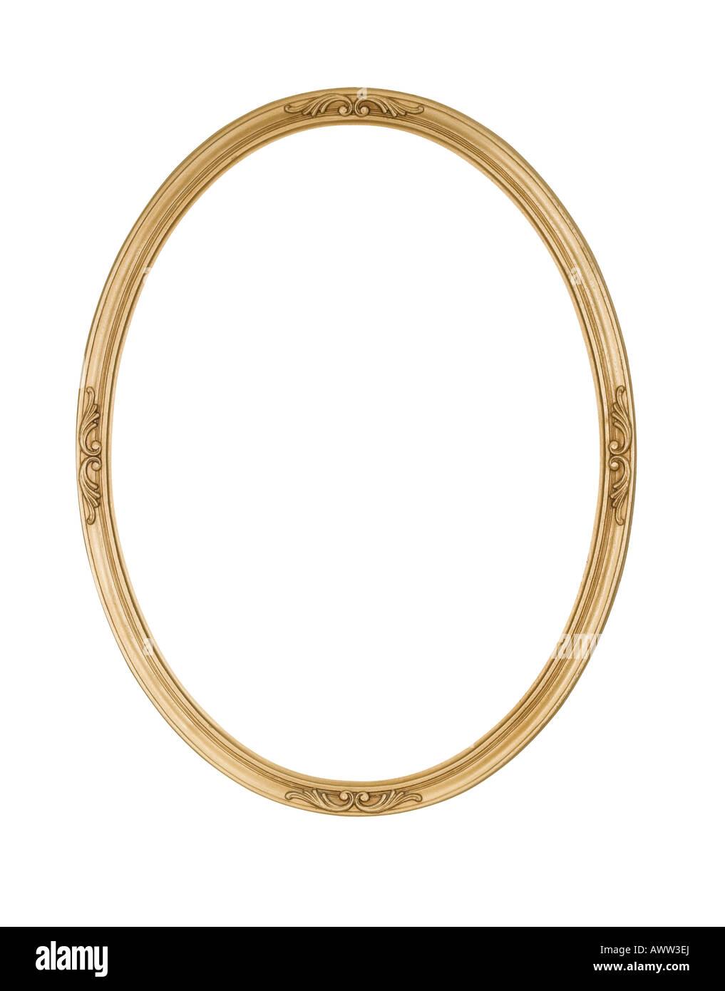 Bild Rahmen Oval Runde Antik Gold, leicht raue Oberfläche mit ...